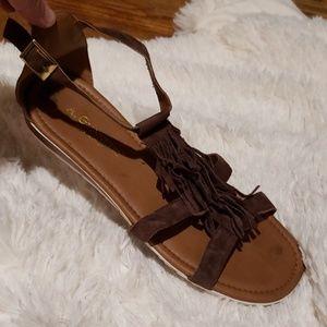 A. GIANNETTI Fringe Sandals
